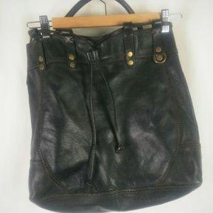 Lucky Brand Vintage Inspired Leather Hobo Bag